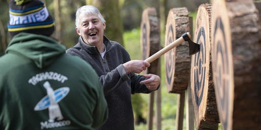 Axe throwing event (10 - 11.30am, 16 June 2019, near Cardiff)