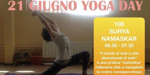 21 Giugno YOGA DAY Internazionale: 108 Surya Namaskar