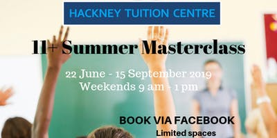 11 plus tuition - Summer Masterclass Programme