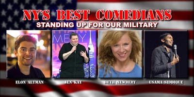 NEW YORK's BEST COMEDIANS! Vets Fundraiser in AC July 4th Weekend & Labor Day Weekend ONLY