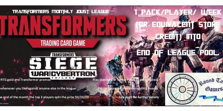 Transformers TCG June Joust League at Round Table Games tickets