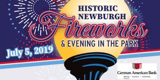 2019 Historic Newburgh VIP Fireworks Button