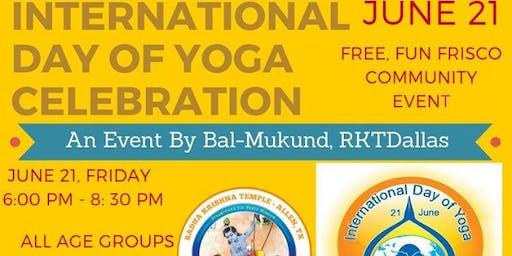 Free Fun Frisco Community Celebration:International Day Of Yoga June 21