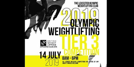 Leicester  Weightlifting Club Open Weightlifting  Tier 3 Competition tickets
