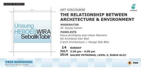 ART DISCOURSE: THE RELATIONSHIP BETWEEN ARCHITECTURE & ENVIRONMENT  tickets