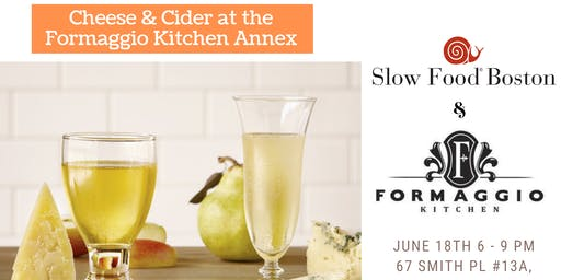 Cheese & Cider Pairing Class at Formaggio Kitchen