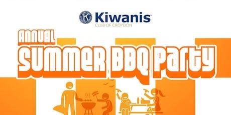 Kiwanis Club of Croydon Annual Summer BBQ Party tickets