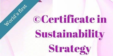 Certificate in Sustainability Strategy tickets