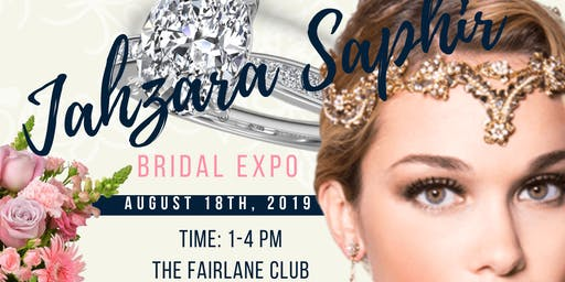 Exhibitor Registration:  Jahzara Saphir Bridal Expo*