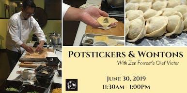 Cooking Class:  Potstickers & Wontons! June 30, 2019