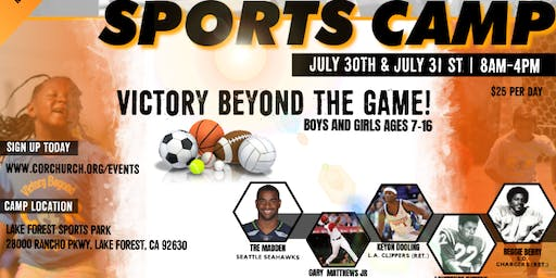 COR Sports & Enrichment Camp 2019 - Victory Beyond the Game!