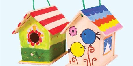 Kids Bird House Painting Workshop tickets