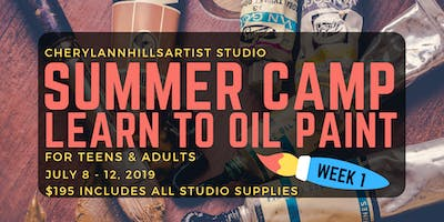 Summer Camp -Learn to Oil Paint in Hamilton, July 8 - 12 Afternoons