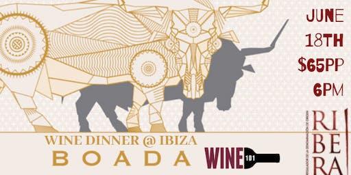Boada Wine Dinner @ Ibiza Hamden