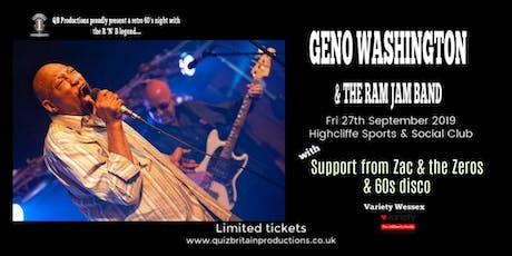 Geno Washington & the Ram Jam Band tickets