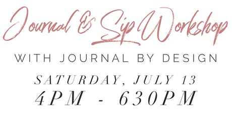 Journal & Sip with Journal By Design tickets