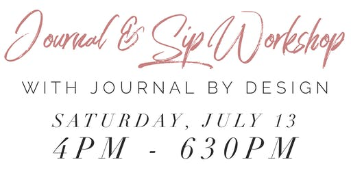 Journal & Sip with Journal By Design