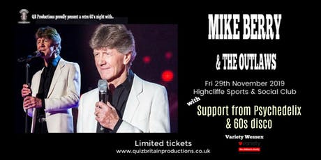 Mike Berry & the Outlaws tickets