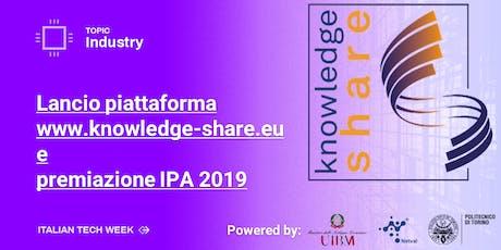 Italian Tech Week | Presentazione Knowledge-Share e premiazione IPA 2019 biglietti
