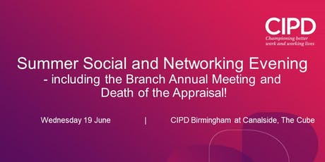 Summer Social & Networking Evening - Death of the Appraisal tickets