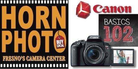Canon EOS Basics 102 Class tickets