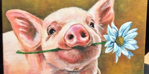And This little Piggie paint night