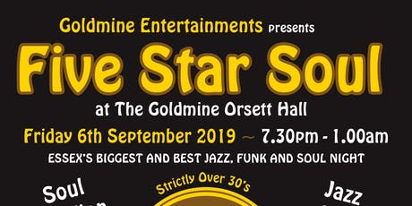 5 Star Soul at The Goldmine Orsett Hall - Greg Edwards tickets