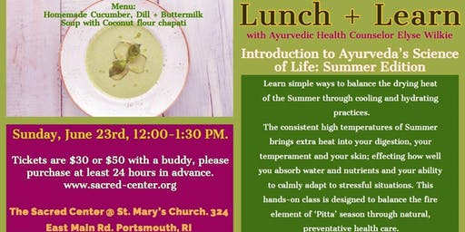 Lunch & Learn Summer Edition with Elyse Wilkie
