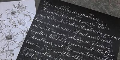 Modern Calligraphy Workshop 27th July 2019 - 10am - 12pm - Salisbury