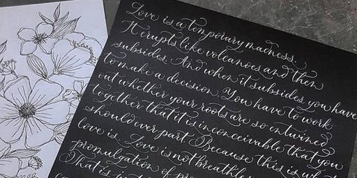 Modern Calligraphy Workshop 27th July 2019 - 10am - 12pm - Salisbury