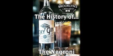 """A Lee Spirits Cocktail Class: """"The History of the Negroni"""" tickets"""