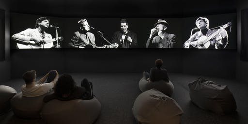 Docent led tour of Leonard Cohen exhibit at the Jewish Museum