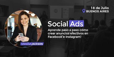 Social Ads: Cómo crear anuncios Efectivos con Facebook e Instagram tickets
