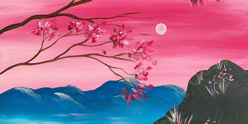 Sakura Sunset Brush Party - Knaphill
