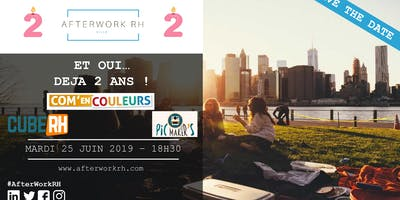 AfterWork RH Lille – Juin 2019 – SAVE THE DATE : 2 ANS !