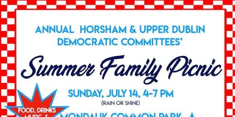 Annual Upper Dublin & Horsham Democratic Committees' Summer Family Picnic tickets