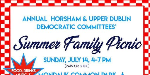 Annual Upper Dublin & Horsham Democratic Committees' Summer Family Picnic
