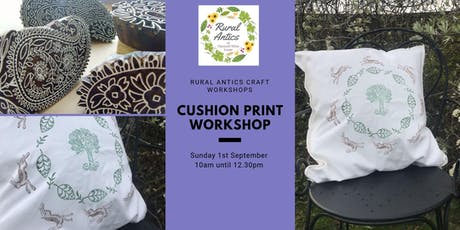 Cushion Cover Print Workshop tickets