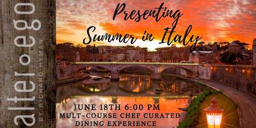 Alter Ego Summer in Italy Dinner