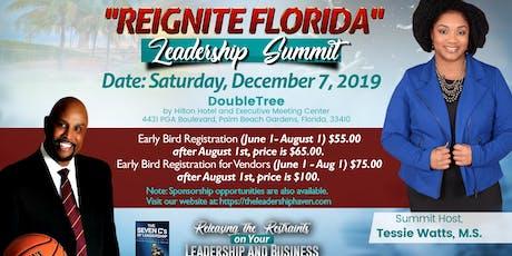 "2019 ""REIGNITE FLORIDA"" Leadership Summit tickets"