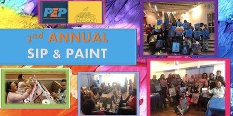 """Paterson """"Parents Engaging Parents """" Sip & Paint tickets"""