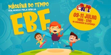 """Escola Bíblica de Férias - """"Máquina do Tempo - Viajando pela Bíblia"""" (4 a 12 anos) ingressos"""