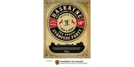 3rd Annual Haskayne MBA Alumni Alliance Stampede Party