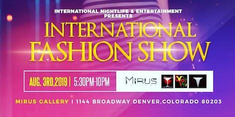 International Fashion Show 2019 tickets