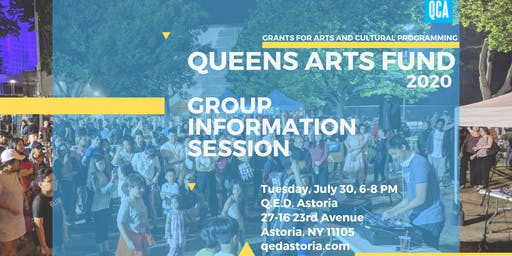 Queens Arts Fund Grant Information Session