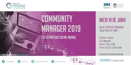 Community Manager 2019 entradas