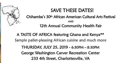 "Chihamba presents ""A Taste of Africa"" featuring cuisine of Ghana & Kenya"