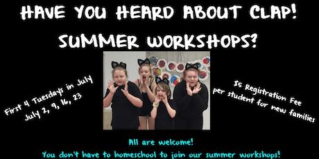 CLAP!  Summer Workshops (Children Learning through Art & Performance) tickets