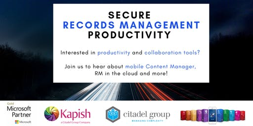Secure Records Management Productivity - Information Session