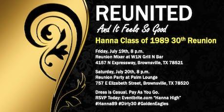 Hanna High Class of 1989 Reunion tickets